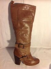 Schuh Brown Knee High Leather Boots Size 37