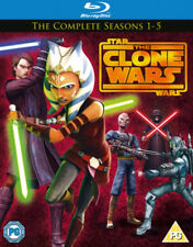 STAR WARS: THE CLONE WARS - THE COMPLETE SEASONS 1-5 REGION B (NEW BLU-RAY)