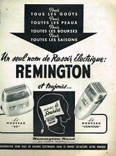 C- Publicité Advertising 1955 Les Rasoirs electriques Remington