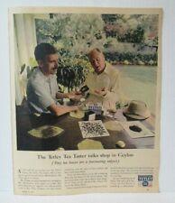 "TETLEY TEA BAGS 1960's 10.5"" X 13"" Newspaper Magazine Ad LM2"