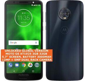 "MOTOROLA MOTO G6 XT1925 3gb 32gb Octa-Core 12mp Fingerprint Id 5.7"" Android LTE"