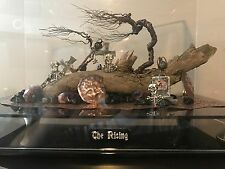 """ONE OF A KIND GEMSTONE, COPPER, WOOD, AND PURE SILVER SCULPTURE """"THE RISING"""""""