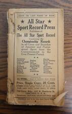 Antique 1919 All Star Sport Record Press Book of Championship Sports Records