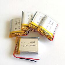 5 Pcs 1200mAh 3.7V Lipo Batería de polímero para cámara de teléfono Almohadilla DVD GPS 103040 GPS
