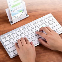 Portable Slim Wireless Bluetooth Keyboard For PC iOS iPad Android Phone Tablet