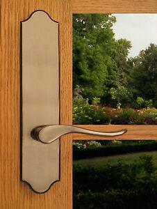 Luxuriant Full Dummy Lever Set & Back Plates; Closet & Inactive Double Doors