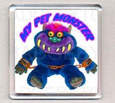 MY PET MONSTER square fridge magnet - RETRO COOL !
