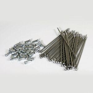 """New Stainless Steel Spoke Set Kit 19"""" Front Wheel Honda CRF 125 F 14 15 16 17"""