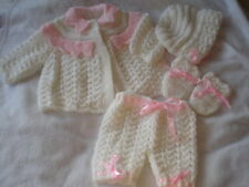 BABY OR REBORN LACEY LACE COAT SET  KNITTING PATTERN