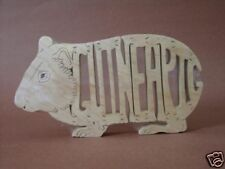 Guinea Pig Wooden Scroll Saw Puzzle Amish Made Toy NEW Figurine Art