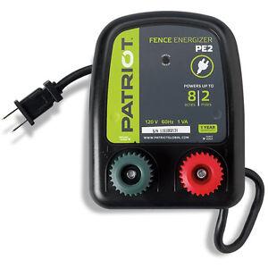 PATRIOT PE2 ELECTRIC 110V/AC FENCER 2 MILE/8 ACRE, FENCE ENERGIZER