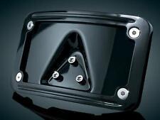 Kuryakyn 3148 Gloss Black Curved Laydown License Plate Frame Harley 1984-2017
