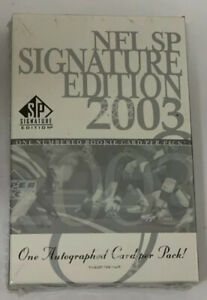 2003 Upper Deck SP Signature Football Hobby Box Pack Factory Sealed