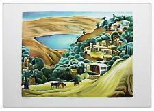 """Nachum Gutman- Original Lithograph """"Tiberias 1920"""""""