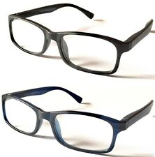 L137 Simply Classic Matte Plastic Reading Glasses/Spring Hinges/Extre Value Pack