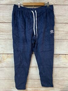 Umbro Corduroy Jogger Pants Mens Large Blue Tapered Ankle Zip New $90 Retail