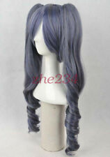 Black Butler Ciel Phantomhive Cosplay Women Full Wig With 2 ponytails