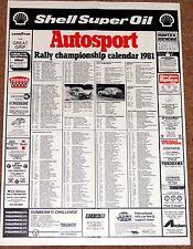 Autosport 1981 RALLY CALENDAR - WRC, International, European, British, Irish etc