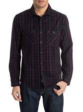 """Quiksilver Men's L/S Flannel """"Roachcontact"""" PSN1 - Large - NWT"""