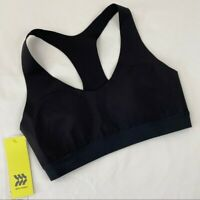 NWT All in Motion Black Racerback Sports Bra Medium Support Women's Size Small