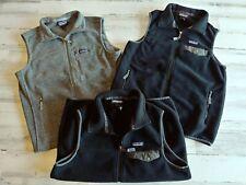 3 Patagonia Men's Synchilla Fleece Snap-T Vest Jacket LOT Black Mens Medium EUC