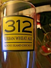 Cool 312 URBAN WHEAT ALE GOOSE ISLAND CHICAGO IL PILSNER Beer GLASS 16 OZ. NICE!