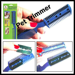 Pet Dog Cat Hair Trimmer With Comb + 2 Razor Cutting Grooming Cut Care