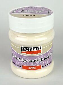 Pentart Decoupage Varnish and Glue Matte 100ml or 230ml Sealer Adhesive