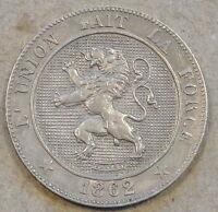 Belgium 1862/1 5 Centimes Better Circulated Grade Des Belges