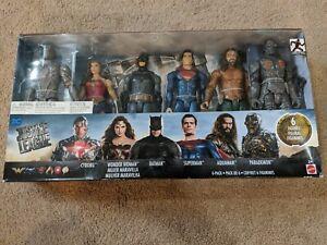 DC Justice League 6pk Cyborg Wonder Woman Batman Superman Aquaman Parademon -New
