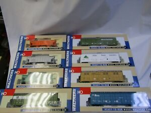 WALTHERS HO FREIGHT CAR ASSORTMENT  (8 cars )  MOW HOPPERS, THRALL ALL DOOR NIB