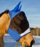 Equine Horse Fly And Mosquite Face Mask With Ear all season with breathable mesh