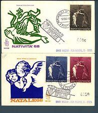 SAN MARINO - 1968 - Natale su FDC Venetia
