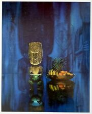"""Tiki Print by August Holland. Nice 16"""" x 20"""" reproduction of 1960 Vintage Art"""