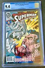 "Superman: the Man of Steel #19 CGC 9.4 Doomsday Battle - ""Death of Superman"" DC"