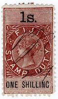 (I.B) Fiji Revenue : Stamp Duty 1/-