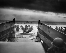 "Into the Jaws of Death D Day Normandy Invasion 8""x 10"" World War II Photo #14"