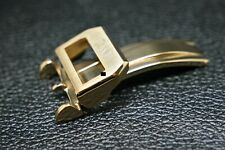 REPLACEMENT NEW 18MM YELLOW GOLD STAINLESS STEEL DEPLOYMENT/CLASP FOR IWC WATCHE