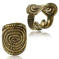 Spirals Brass Rings Adjustable Yoga Ring Thai Hill Tribe Brass Finger Ring
