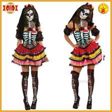 Christys Ladies Senora Sugar Skull Halloween Day Of The Dead Fancy Dress Costume