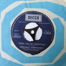 "Vinyl 7"" Singles: Engelbert Humperdinck - There Goes My Everything / Last Waltz"