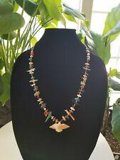 Vintage Animal Fetish Multi-Stone Heishi Necklace