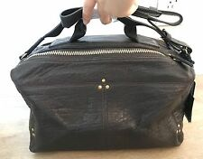 NWT Jerome Dreyfuss Dark Brown Moka Lambskin Leather Raoul Tote Bag $750