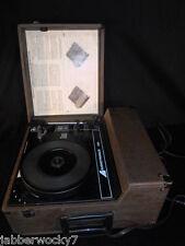 Vintage Audiotronics 338 Portable Phonograph Turntable Record Player