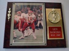 Len Dawson Autographed Photo in Plaque Kansas City Chiefs HOF