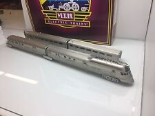 MTH Premier 20-20357-1 Burlington  Pioneer Zephyr Passenger Train 3 Rail  New