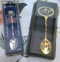 Vintage COLLECTORS Souvenir Spoons X2. YORK England And DUBAI.