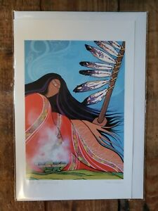 """PRAYERS FOR THE MISSING""  6""x9"" art card by Metis artist Pam Cailloux"