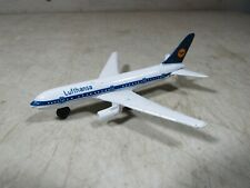 Vintage Small Diecast Metal Toy Model Airplane Lufthansa Airlines