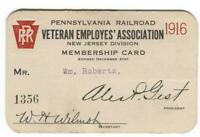 Pennsylvania Railroad Veteran Employee's Association NJ Division 1916